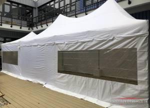 Profi-Pagodenzelt 4m x 10m Weiß