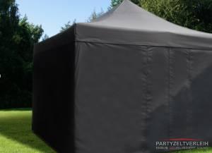 Profi-Faltzelt 4m x 4m Schwarz