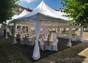 Stangenverkleidung 4m Zelte Weiß  inkl. Installation