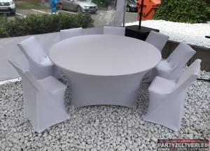 Stretch-Husse für Tisch Rund ø 180cm ohne aufziehen/ gegen Aufpreis möglich