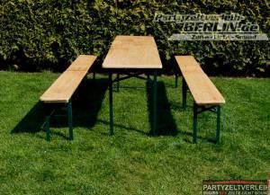 Tisch aus Bierzeltgarnitur 220x50  bei Lieferung bis zum Grundstück / Aufbau gegen Aufpreis