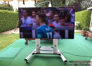 75 Zoll Samsung LED TV UE75ES9090 mit mobilem TV-Ständer bei Lieferung ebenerdig