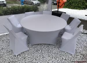 Stretch-Husse für Tisch Rund 150cm ohne aufziehen/ gegen Aufpreis möglich