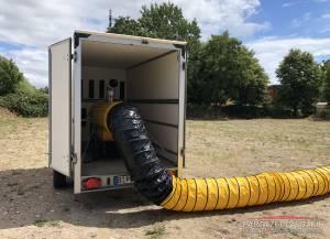 Dieselheizung 45KW mobil im KFZ Hänger installiert full-full Regelung bzw. 1,50€/l
