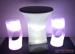 Stehtisch mit LED Beleuchtung bei Lieferung bis zum Grundstück / Aufbau gegen Aufpreis
