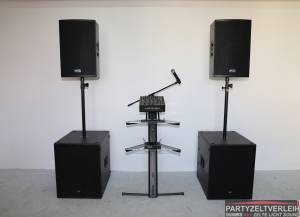 RCF Soundsystem für mittlere bis große Veranstaltungen / Installation gegen Aufpreis möglich