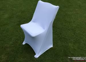 Stretch-Husse Klappstuhl Weiß ohne aufziehen/ gegen Aufpreis möglich