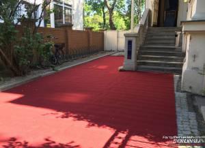Teppichboden rot                                             inkl. Lieferung und Verlegung
