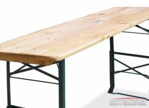 Tisch aus Bierzeltgarnitur 220cm x 50cm