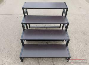 Treppe für Bühne - Podeste - Vierstufig ( 100cm Bühne )   inkl. Lieferung und Installation